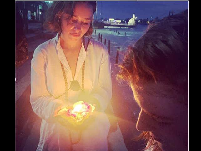 Yoga, monkeys, spices: 'GoT' stars Emilia Clarke, Rose Leslie on vacation in India