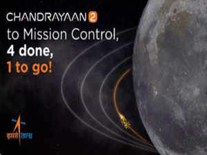 India a step closer to landing on the moon. Chandrayaan-2 set to create history