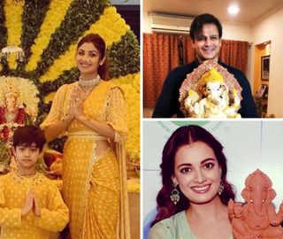 B-town celebs bring home 'Gannu Raja', share colourful posts as Ganesh Chaturthi kicks off