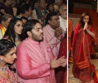 Mukesh, Nita Ambani host Ganesh Chaturthi puja at a decked-up 'Antilia'; Big B, Tendulkar attend