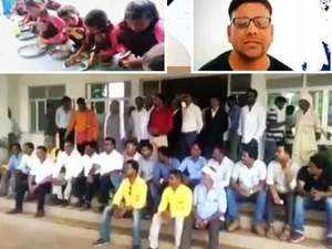 Protest against Yogi govt for persecuting journo who exposed mid-day meal farce