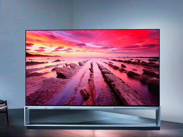 LG's 88-inch 8K OLED TV is equipped with an artificial intelligence processor.