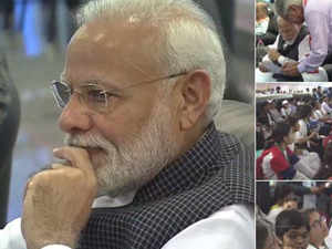 Watch: PM Modi at ISRO to watch soft landing of Vikram lander