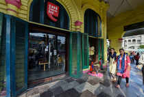 Lucknow: A Cafe Coffee Day (CCD) outlet is seen open as usual at Hazratganj in L...