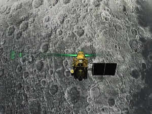 Chandrayaan-2's 'Vikram' lander, now lying in a tilted position