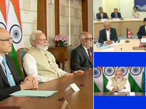 PM Modi and Nepal PM Oli jointly inaugurate Motihari-Amlekhganj petroleum product pipeline