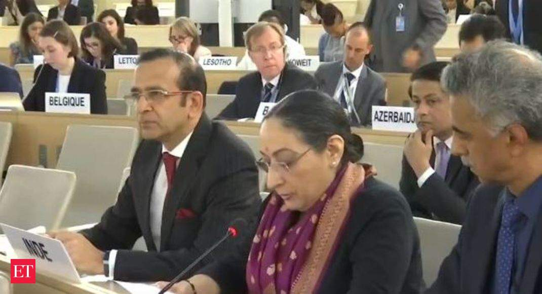 We will not tolerate any outside interference on Kashmir: India at UNHRC