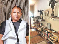 Gaurav Gupta adds colonial touch to studio with vintage furniture, mirrors