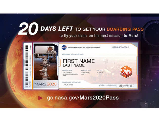 Can't fly to Mars? Nasa is offering a boarding pass in your name with its Red Planet rover