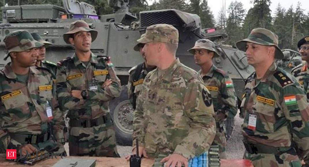 India, US armies conduct joint military training exercise in Washington