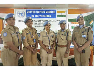 5 Indian women police officers honoured by UN for role in South Sudan
