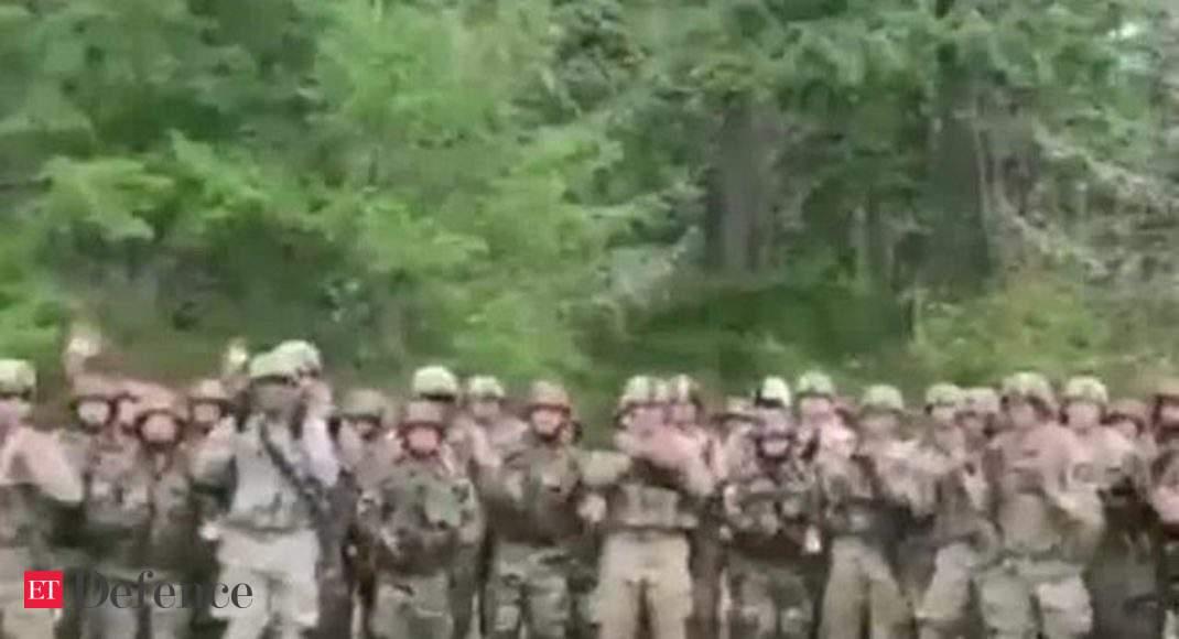Watch: Indian, American soldiers performing on Assam Regiment song  'Badluram ka Badan'
