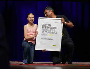 Greta Thunberg feted with Amnesty's most-prestigious human rights award for contribution to environment