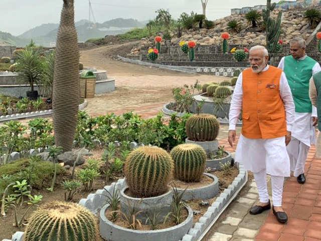 A Visit To The Cactus Garden Pm Narendra Modi Celebrates