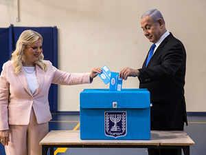 Watch: Benjamin Netanyahu vote in Israeli election