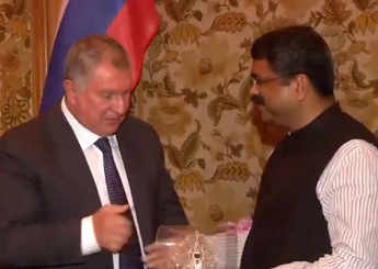 Dharmendra Pradhan meets Russian oil giant Rosneft's CEO in Delhi