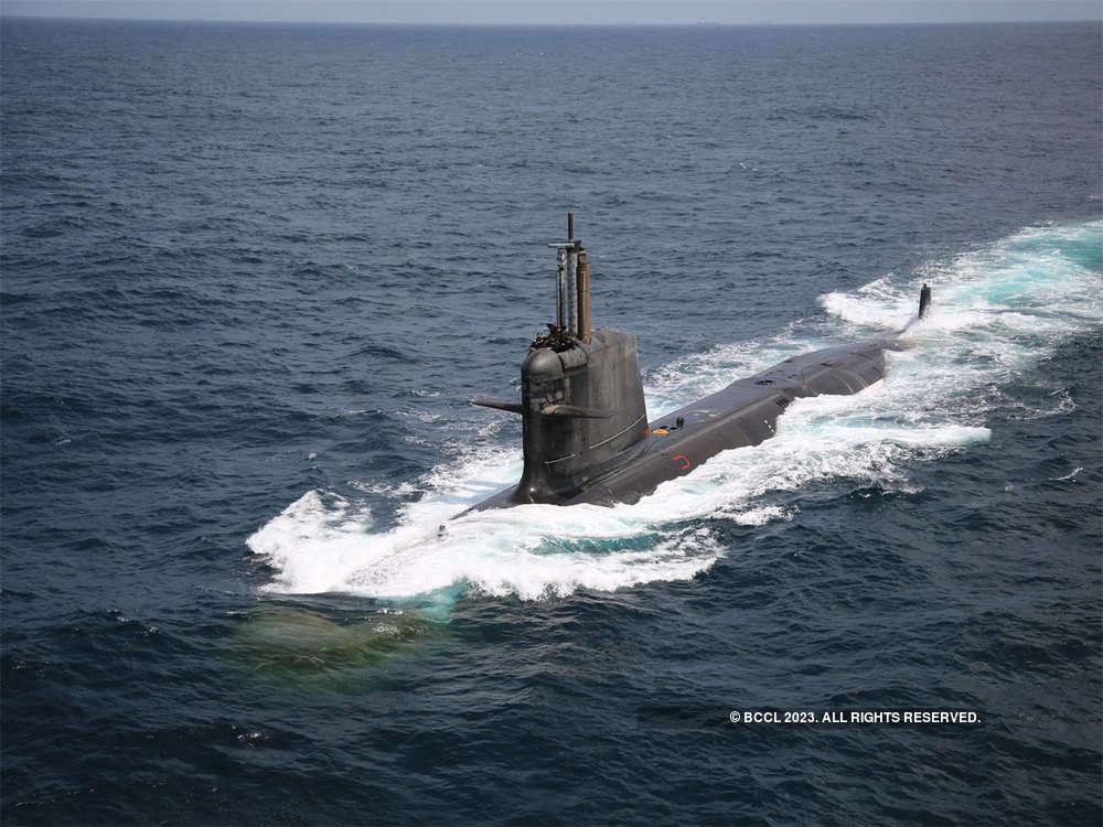 MDL hands over Scorpene class submarine 'Khanderi' to Navy