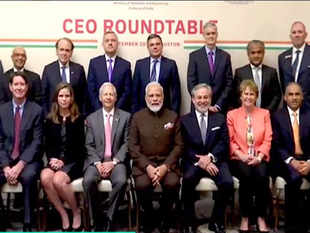 PM Modi holds round table meeting with CEOs from energy sector in Houston