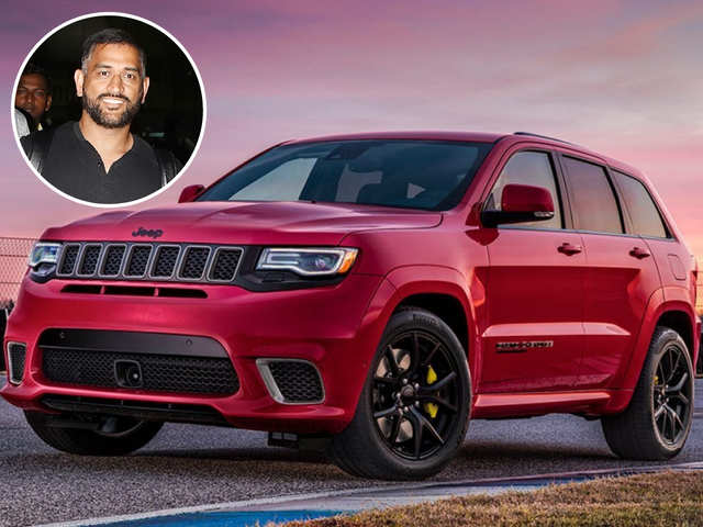 Dhoni takes new Jeep Grand Cherokee Trackhawk out for a drive in Ranchi