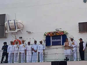 ICGS 'Varaha' commissioned by Rajnath Singh