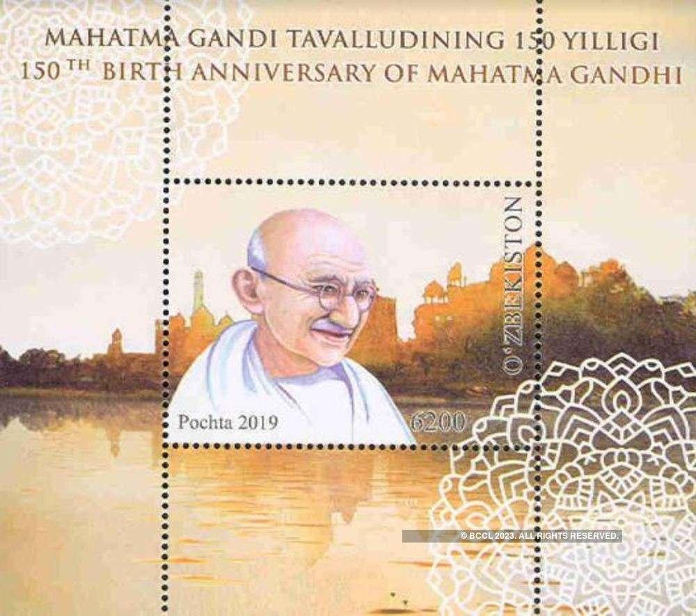 Uzbekistan honors Mahatma Gandhi by issuing postage stamp