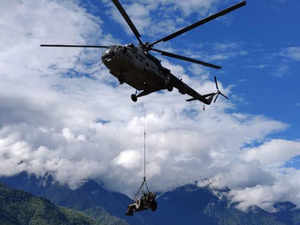 Light field gun airlifted during joint Army, Air Force exercise in Arunachal
