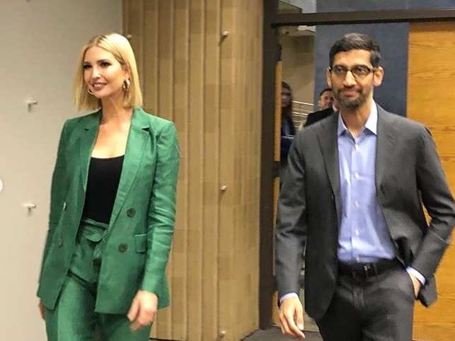 Ivanka Trump and Sundar Pichai's Pledge to America's Workers programme will educate, train and reskill workers from high-school age to near-retirement​.