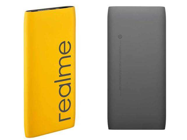 The Realme power bank offers 18W two-way fast charging via USB Type-C.​
