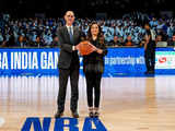 Nita Ambani presents ceremonial 'Match Ball'; Indiana Pacers, Sacramento Kings on the court at NBA's first-ever game in India