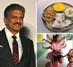 3D rangoli, children depicting Maa Durga & more: Anand Mahindra's Twitter feed gets festive