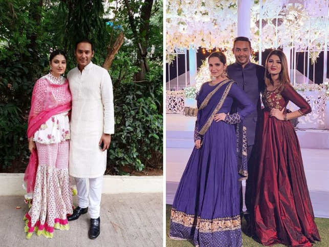 Image result for sania mirza sister wedding