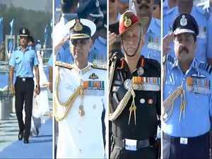 Indian Air Force Day: Sachin Tendulkar, tri-services chiefs attend 87th anniversary celebrations