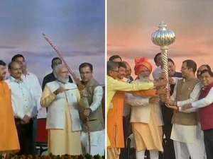 Watch: PM Modi attends Dussehra event at Ram Leela grounds in Dwarka