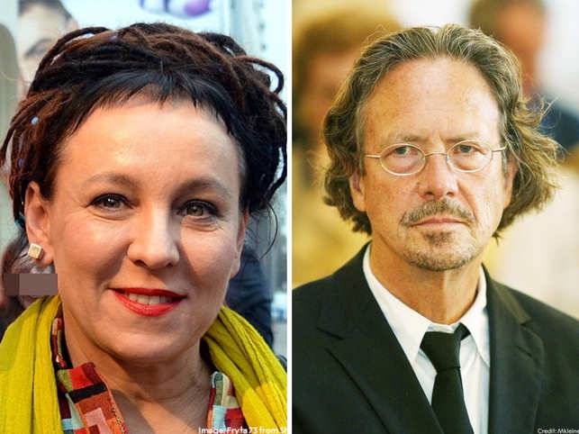 Olga Tokarczuk was born 1962 in Sulechów, Poland, and Peter Handke is from a village named Griffen, Austria.