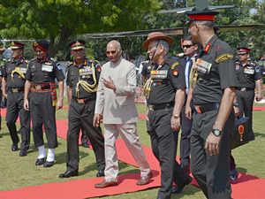 President lauds School of Artillery's role in warfare training