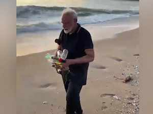 PM Modi plogs at Mamallapuram beach in Tamil Nadu, shares video