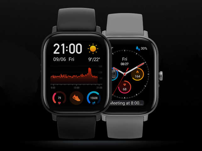 Amazfit GTS​ is currently available in obsidian black colour in India​.