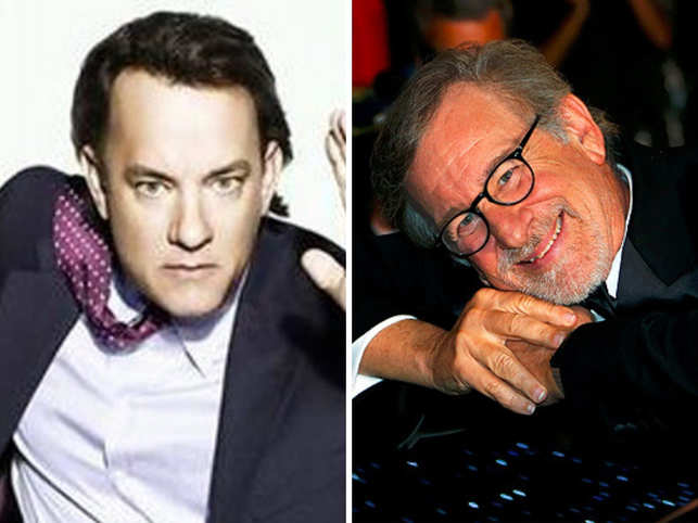 Tom Hanks (L) and Steven Spielberg's series is based on author Donald L Miller's book 'Masters of the Air: America's Bomber Boys Who Fought the Air War Against Nazi Germany'.​