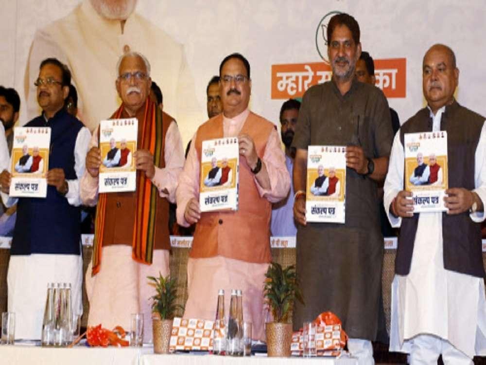 Haryana BJP says its promises 'doable', Congress' 'unrealistic'