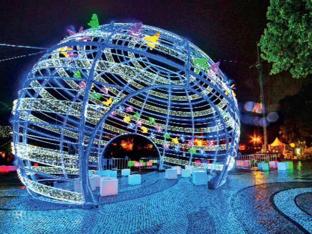 BRIGHT IDEA: The Macao Light Festival will leave visitors mesmerised with its spectacular showcase of light artistry