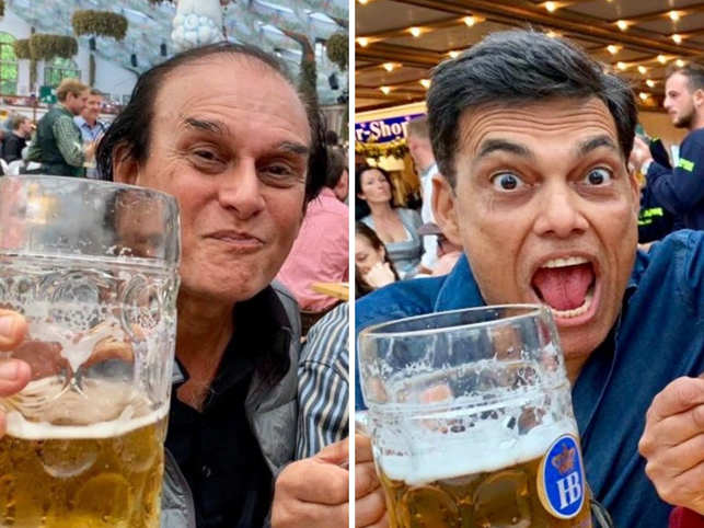Harsh Mariwala and Sajjan Jindal​ ​said 'prost' in one of the tents at Oktoberfest​.