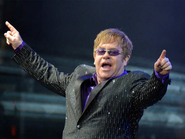 A regular day in Elton John's life: Wake up, buy a Rolls-Royce, write hit song, dine with Ringo Starr