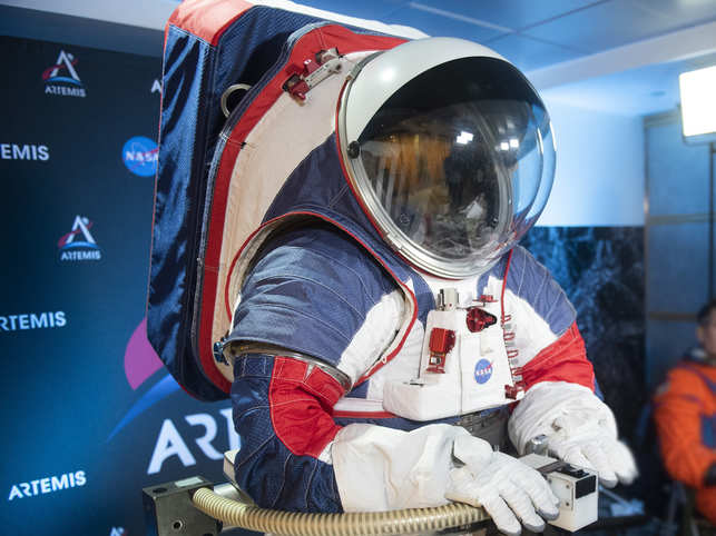 The headset in the suit contains a small foam block that allows an astronaut to scratch his nose.