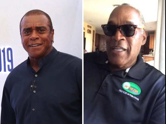 OJ Simpson (R) was Ahmad Rashad's teammate at the Buffalo Bills in the '70s and the best man at his second wedding. 