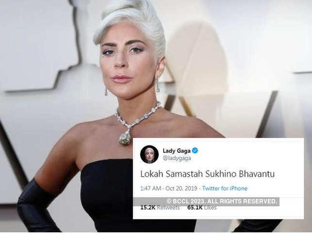 Lady Gaga causes frenzy with Sanskrit tweet