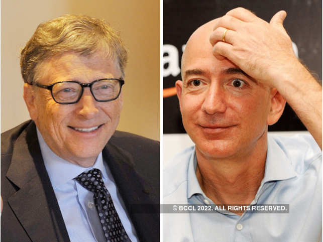 ​After triumphing Bill Gates (L) last year, Jeff Bezos had became the first man on earth with a net worth of $160 billion.​