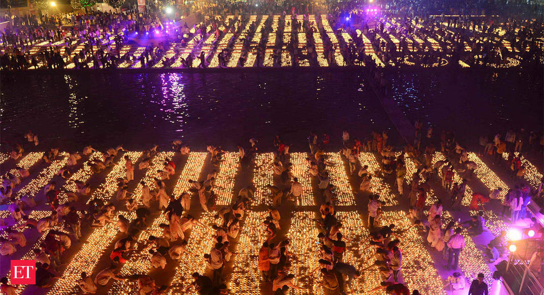 Lit Diwali This Indian City Sets Guinness World Record