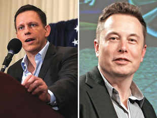 Peter (left) first compared Elon (right) to Apple CEO Steve Jobs and then called him a 'negative role model'.