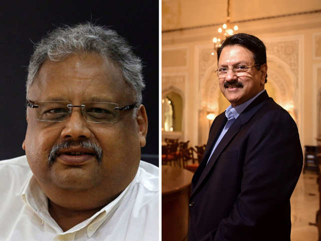 Rakesh Jhunjhunwal (left) and Ajay Piramal (right) are some of the many eminent donors who are giving donation to the foundation in exchange for a sculpture.