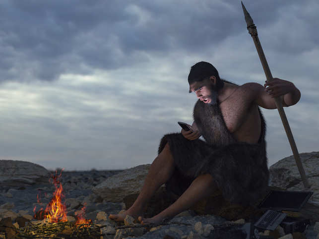 ancestors-tech-smartphone-human race_iStock